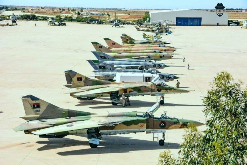 Ассортимент авиатехники Ливийской Национальной Армии