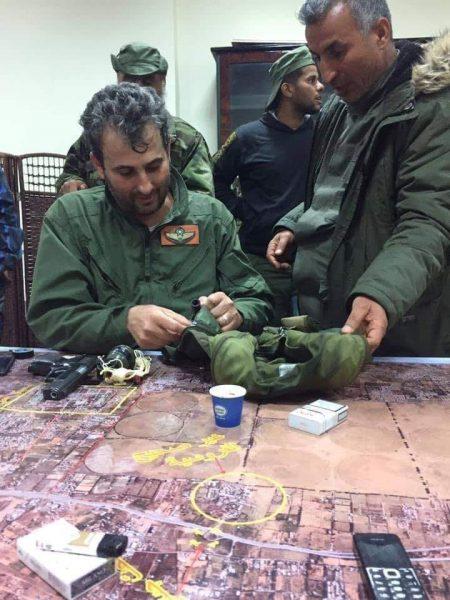 Полковник Jamal Ben Amer после катапультирования.
