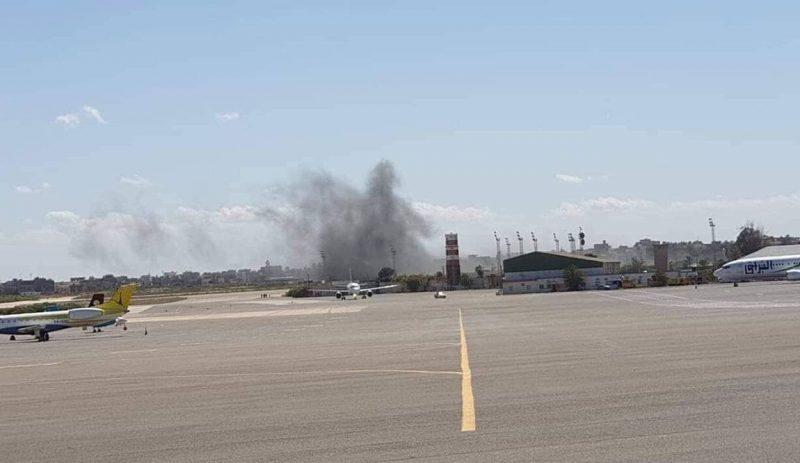 Митига под ударом авиации