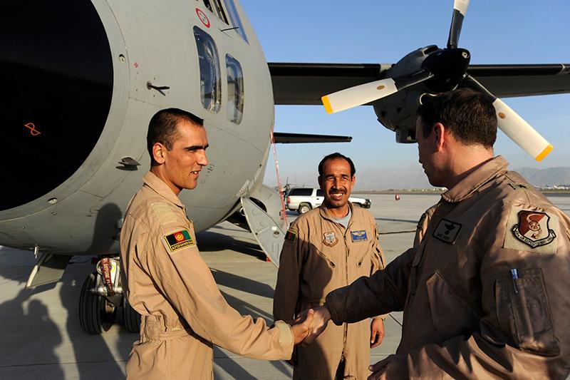 Faiz Ramaki - first Afghan Air Force pilot for C-27 Spartan