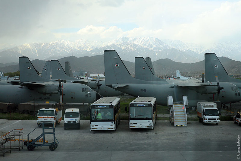 At least eight C-27 Spartans of the Afghan Air Force are waiting for their fate on the outskirts of Kabul airport