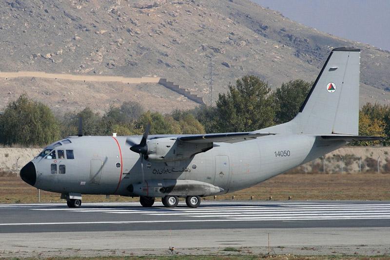 С-27А N14050 at runway