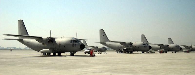 С-27А Спартан афганской авиации в Кабуле