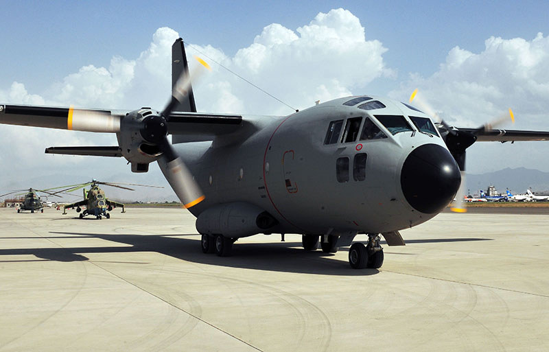 C-27A Spartan N64087 VIP-configured at Kabul
