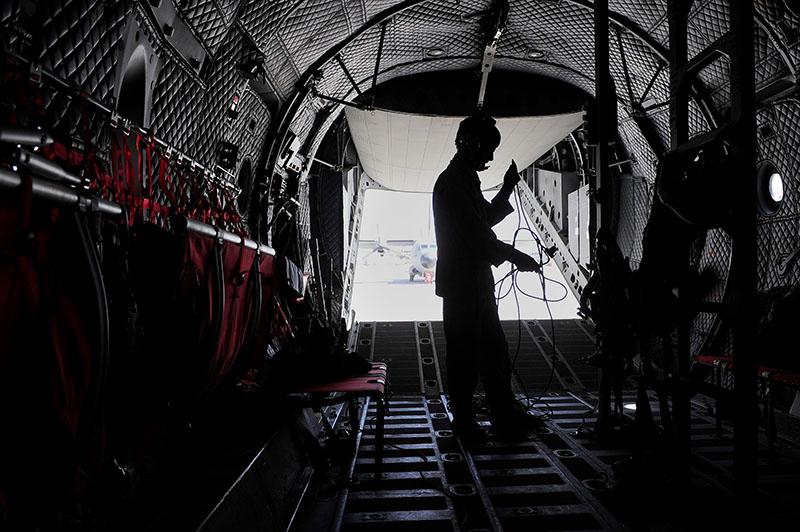 Inside of Afghanistan Air Force C-27 fuselage