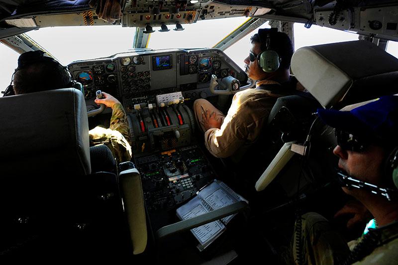 Afgan Air Force C-27 Spartan cocpit
