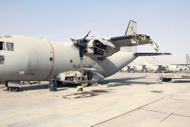 Destruction of the C-27A Spartan at Kabul Airport