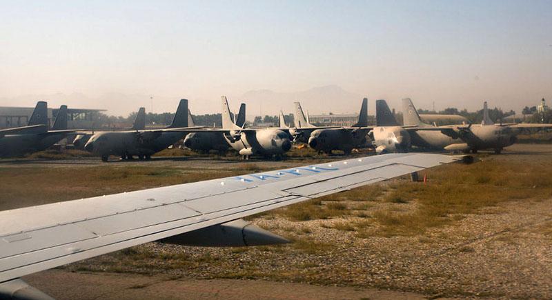 C-27 Spartan брошенные в аэропорту Кабула