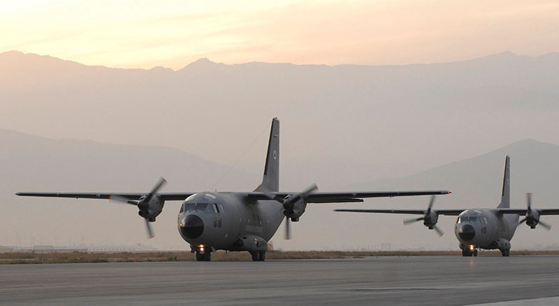 First two C-27 Spartan arriwe at Kabul