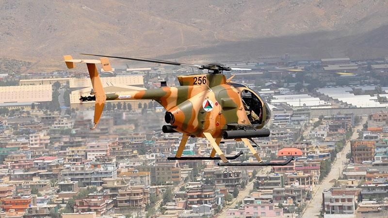 MD530F N256 над Кабулом