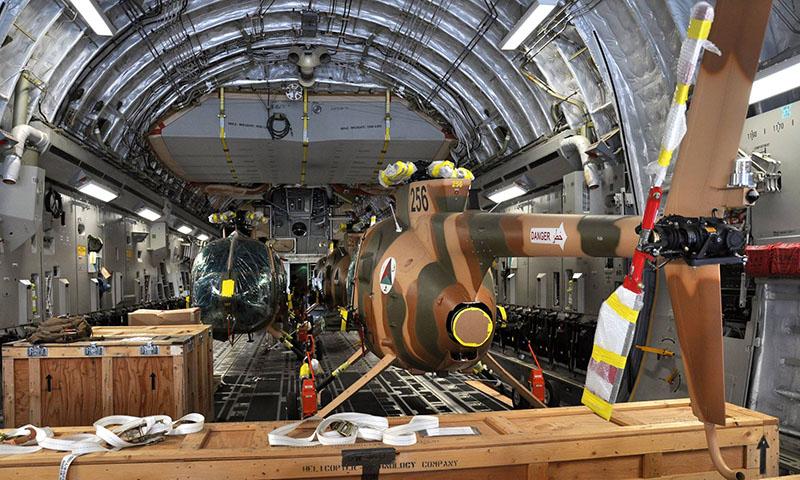 Пять MD530F доставленных в Афганистан 17 июня 2016