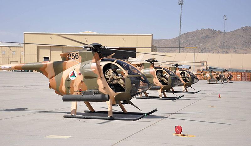 Линейка MD530F вооруженных пусковыми установками М-260