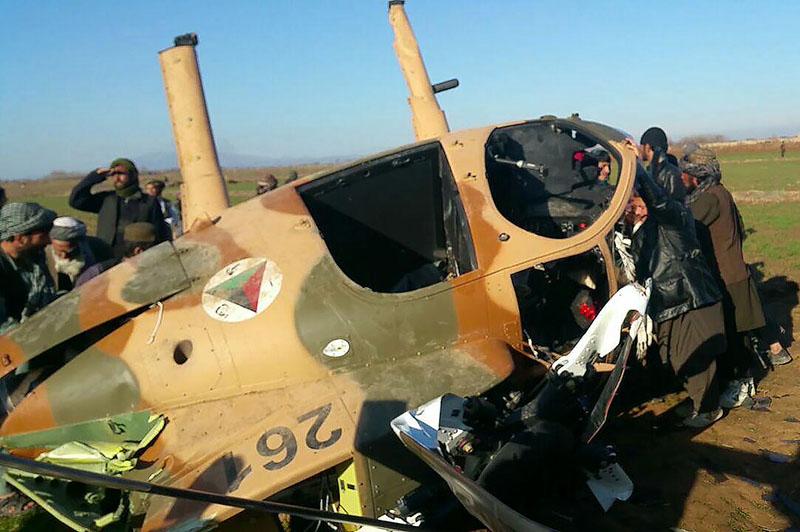 Упавший на территории талибов MD530F N261