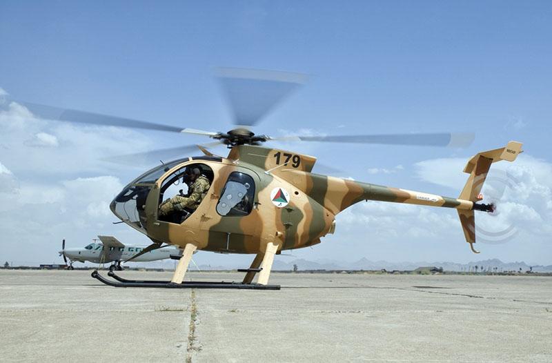 Первый афганский MD530F с номером 179
