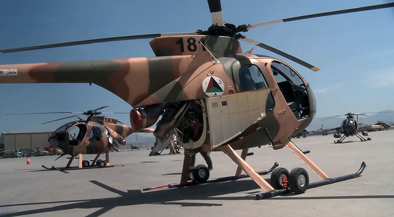 MD530F N181 with open engine bay