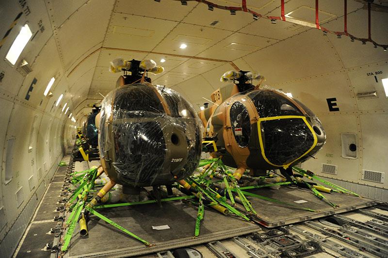 Прибытие первых вооруженных MD-530F Cayuse Warriors в Афганистан