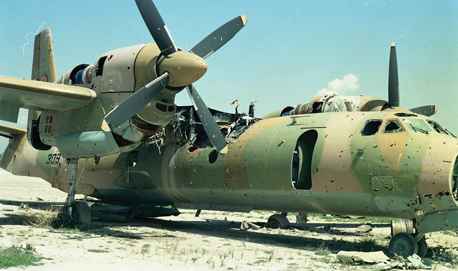Afghanistan Air Force An-32 N309 destroyed at Khost