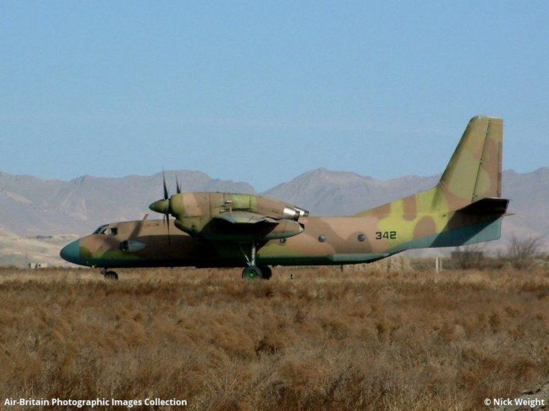 Афганский Ан-32 без опознавательных знаков