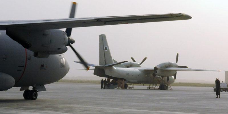 Ан-32 N342 ВВС Афганистана и С-27А Spartan