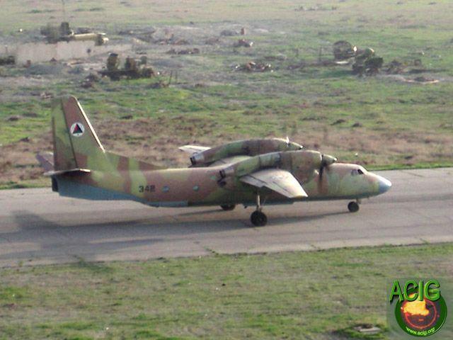 Ан-32 N342 Северного альянса с новыми опознавательными знаками