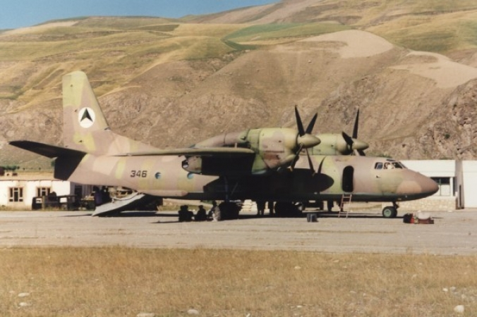 Афганский Ан-32 N346 в Файзабаде