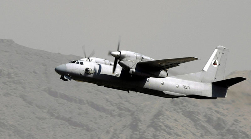 Афганский Ан-32 N350 взлетает