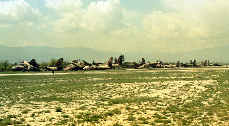 Авиакладбище на аэродроме Хоста