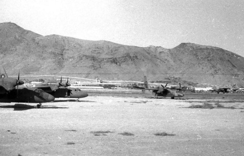 Три афганских Ан-32. Кабул, 1987