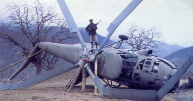 Сбитый Ми-4 Военно-воздушных сил Афганистана