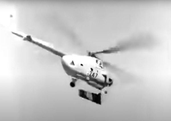 Второй афганский Ми-4 с другой кинохроники