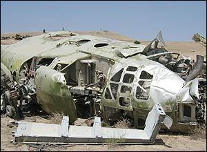 Фюзеляж афганского Ми-4 в 2003 году, Кабул