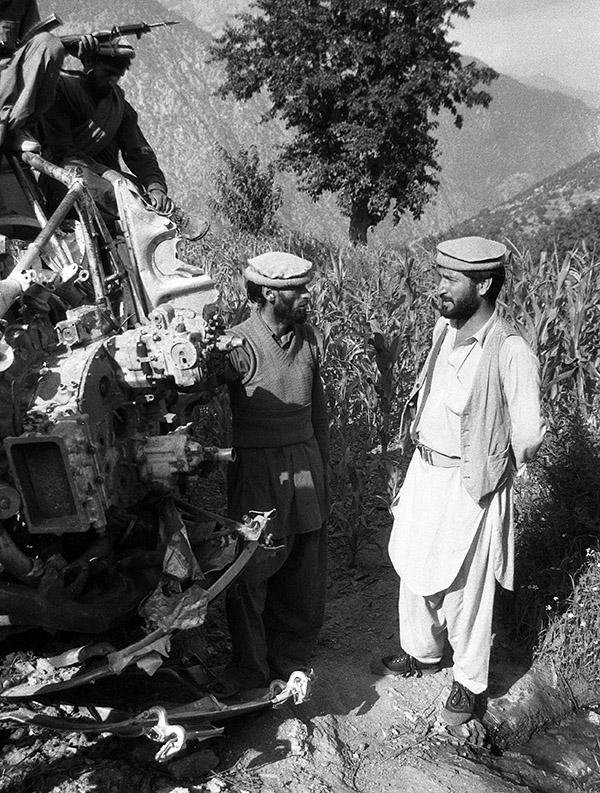 Обломки афганского вертолета