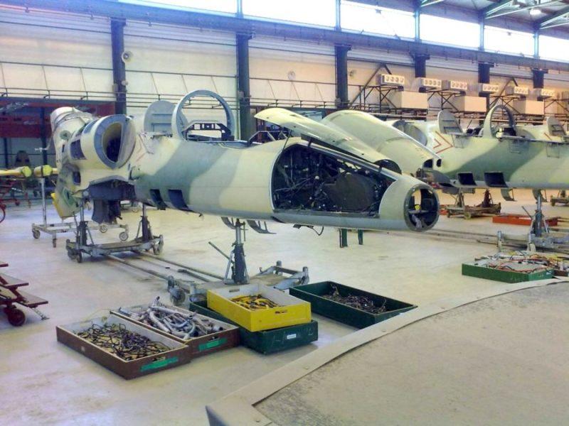 Л-39 в ходе ремонта