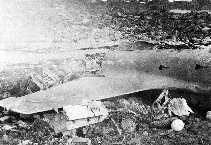 Обломки хвостовой части Airmacchi MB-339 Карлоса Бенитеса