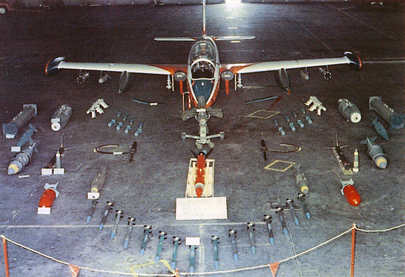 Argentine Naval Aviations Aermacchi MB-339A with weapons