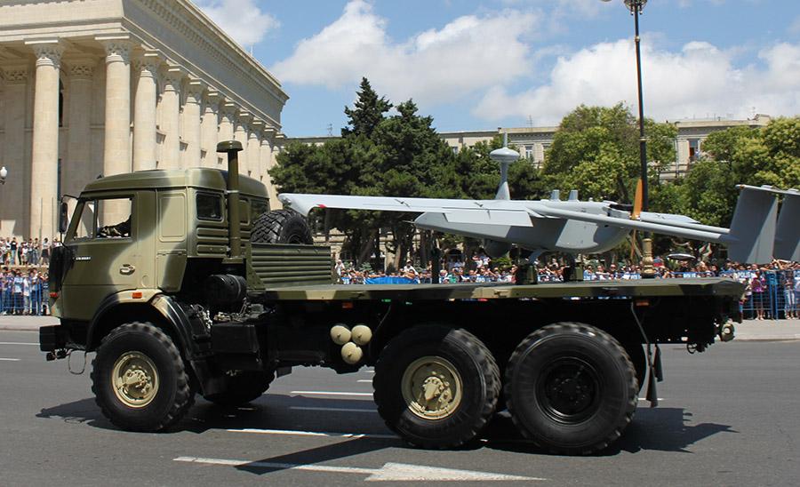 Азербайджанский БЛА Aerostar установленный на Камаз