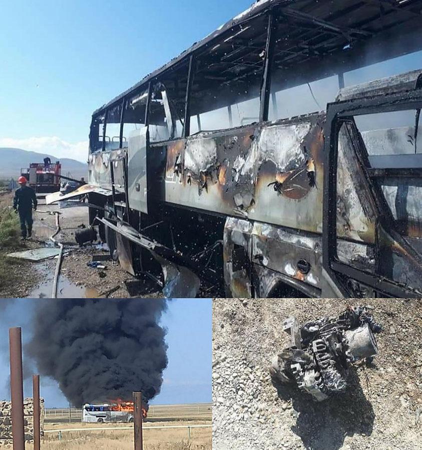 Автобус уничтоженный Harop