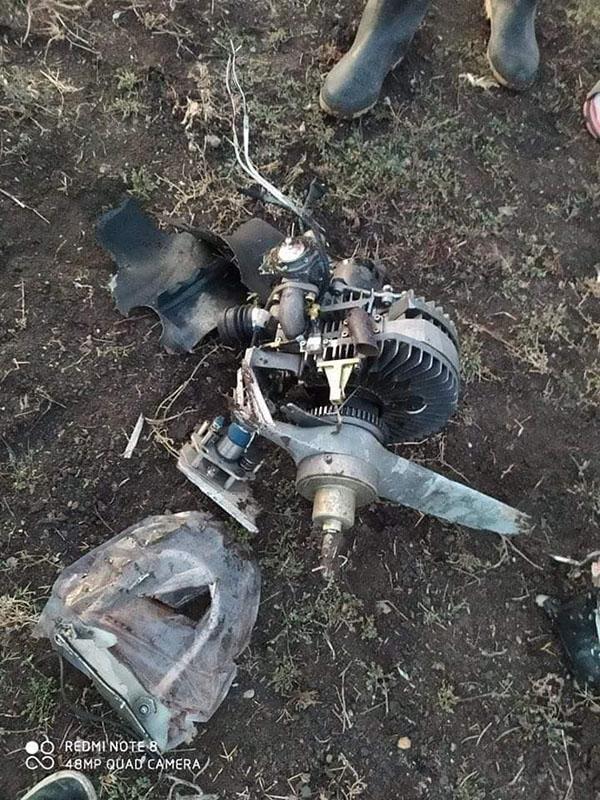 Двигатель сбитого Харопа