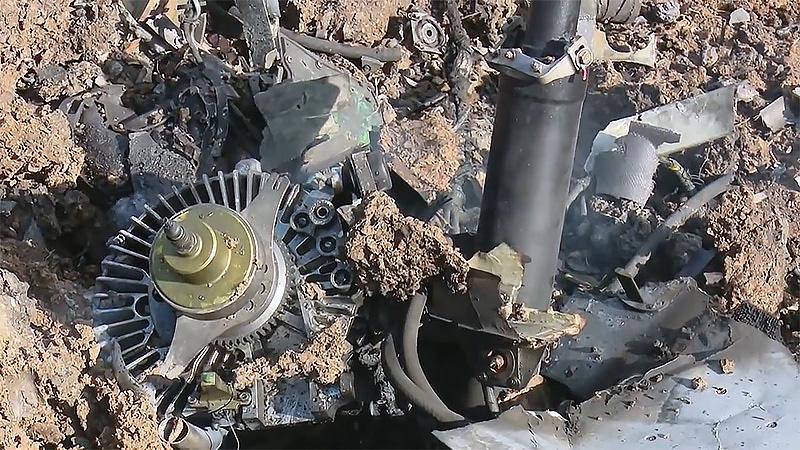 Двигатель сбитого 11 октября Harop