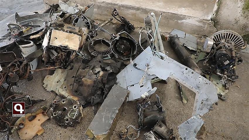 Обломки сбитого Харопа, вызвавшие неоднозначную оценку