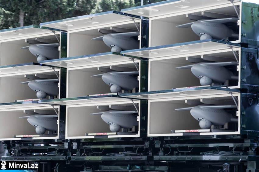 Девять контейнеров с БЛА на одной пусковой