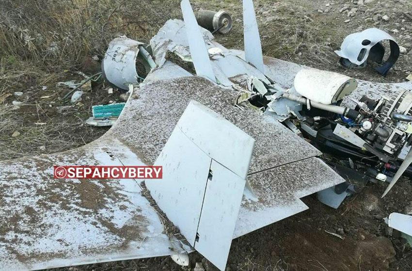 Упавший около иранского Худаферина Хароп N3073