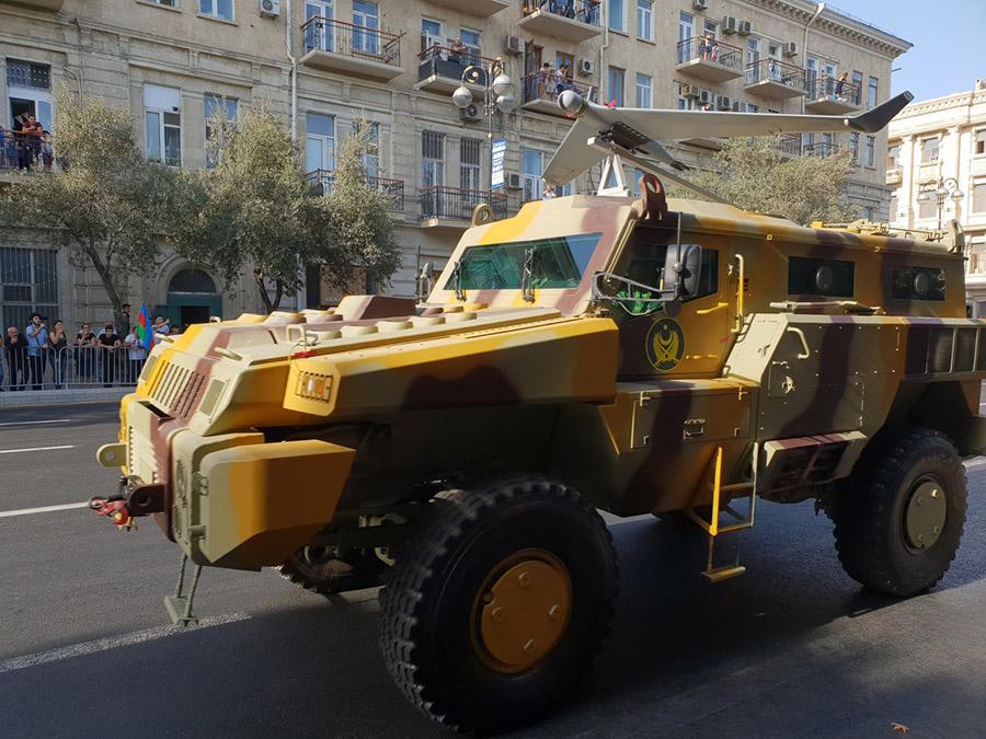 Азербайджанский Orbiter-2М установленный на БА Мародер