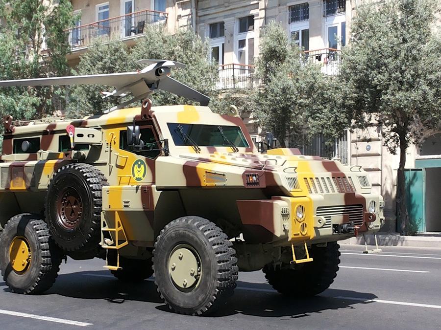 Азербайджанский Orbiter-3 на БА Мародер