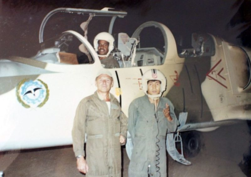 Libyan cadets with instructor