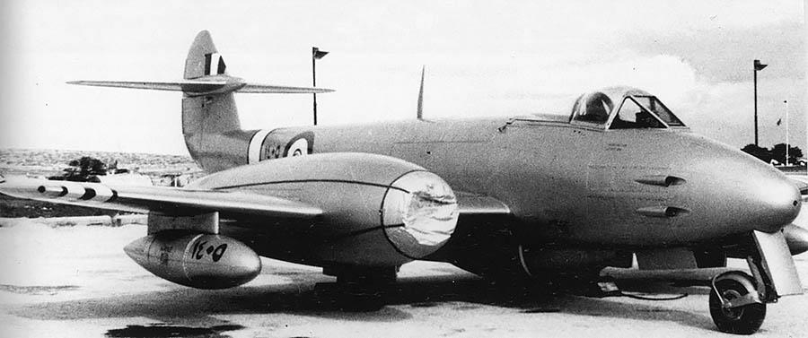 Египетский Метеор F-4 N1405 на Мальте