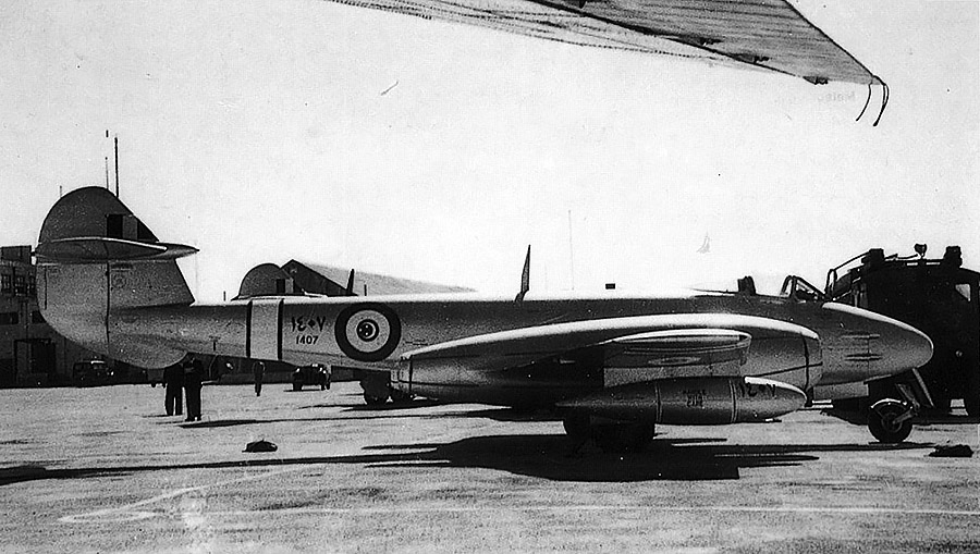 Egyptian Gloster Meteor F-4 N1407