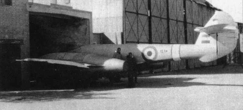 Египетский Метеор переживший англо-французкие бомбардировки