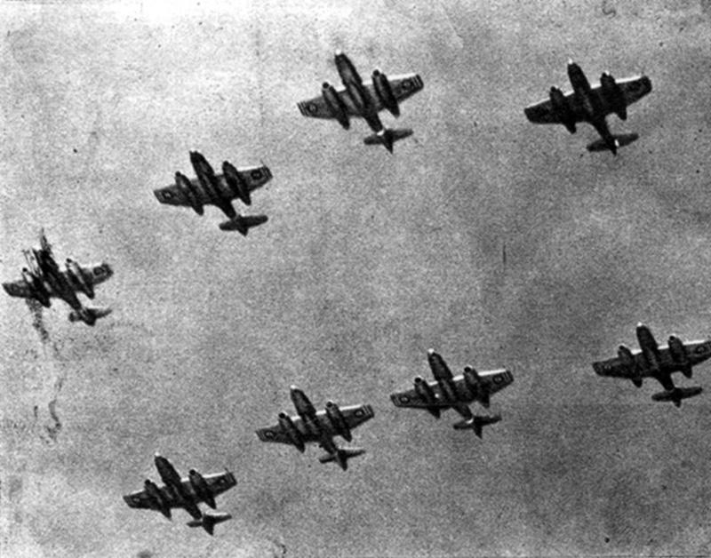 Gloster Meteor F-4 и F-8 ВВС Египта