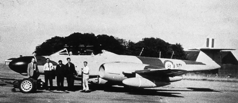 Egyptian Gloster Meteor NF-13 N1431